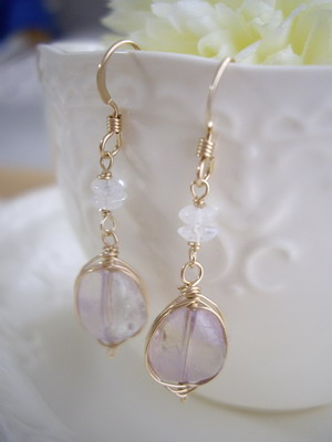 wire wrap plus earrings