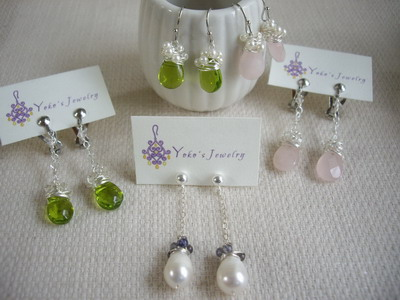 beads wrap earrings