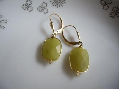 bezel setting look earrings