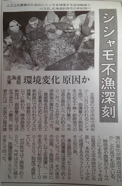 新聞記事(ししゃも)