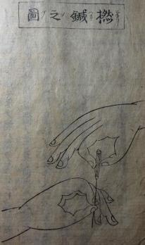撚鍼の図 蓬庵