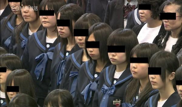 釜石東中学校 芋セーラー服