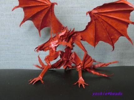 切り折り紙 ドラゴン 2014.1