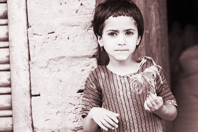 a girl in nepal