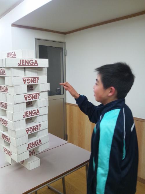 巨大ジェンガ 田中君