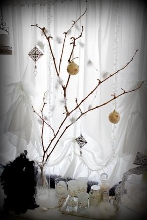 枯れ枝ディスプレイ クリスマス (3)