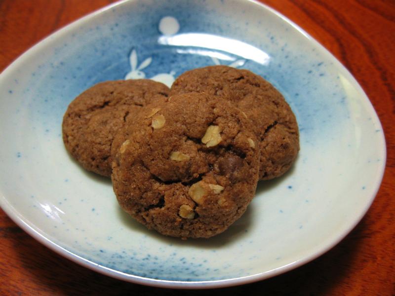 シナモンとチョコのドロップクッキー