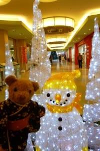 ベァーとクリスマス飾り