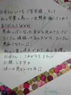 母の日 手紙