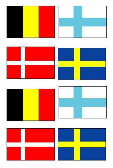 北欧4国国旗