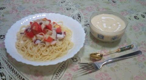 ママの誕生日にディナー作った!