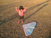 めいちゃんと凧