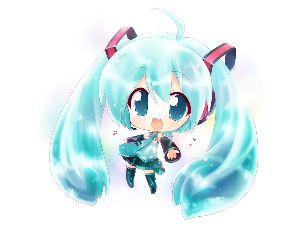 Konachan.com - 59086 chibi hahifuhe hatsune_miku vocaloid white