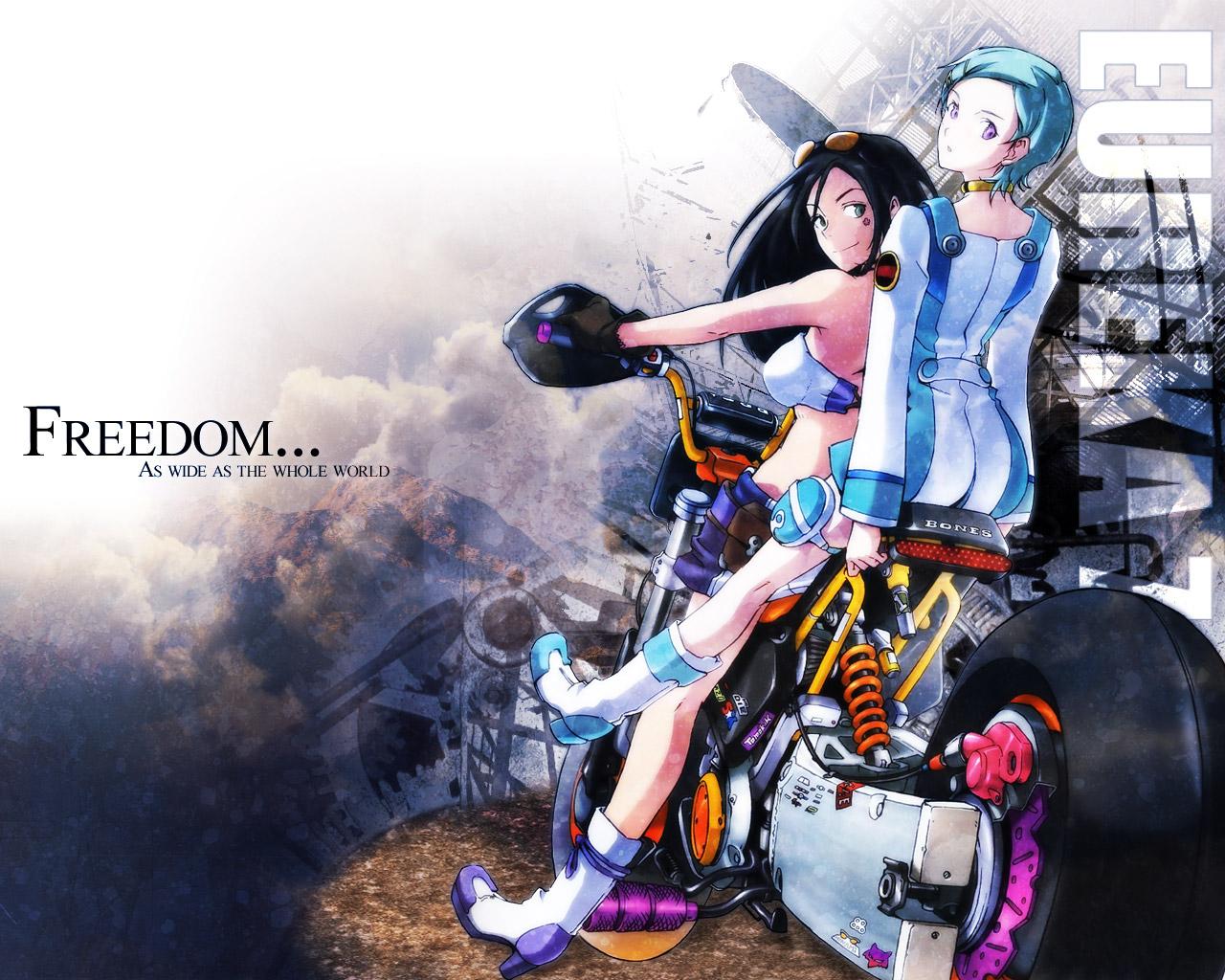 Konachan.com - 25390 bike eureka eureka_seven talho_yuuki