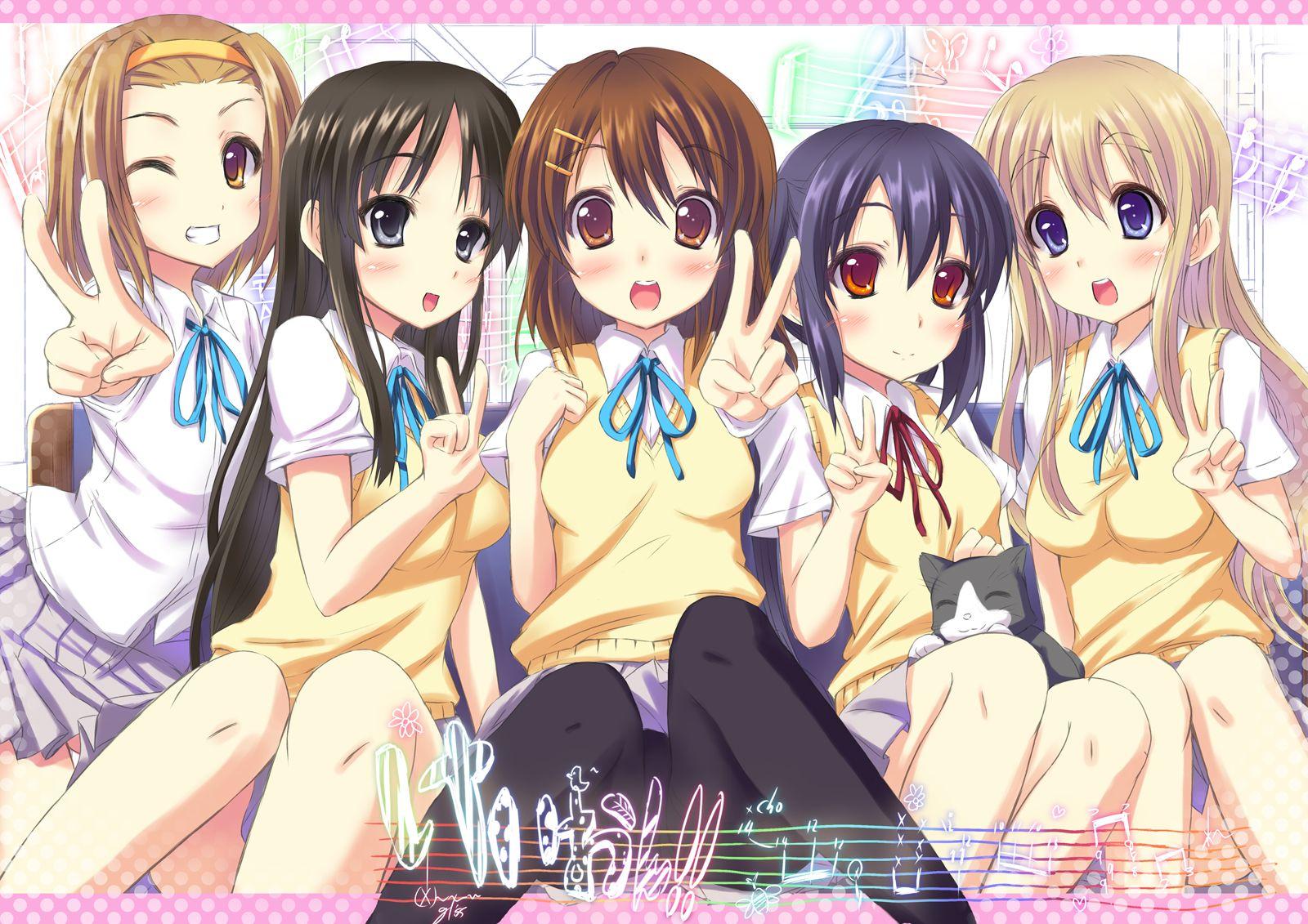 Konachan.com - 72752 akiyama_mio hirasawa_yui k-on! kotobuki_tsumugi nakano_azusa tainaka_ritsu