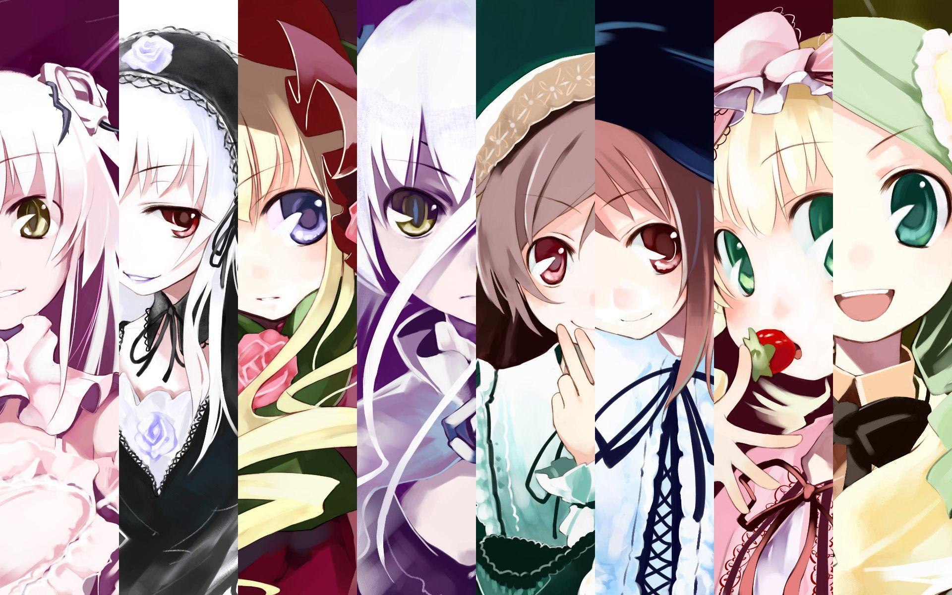 Konachan.com - 61014 barasuishou group hina_ichigo kanaria kirakishou rozen_maiden shinku souseiseki suigintou suiseiseki