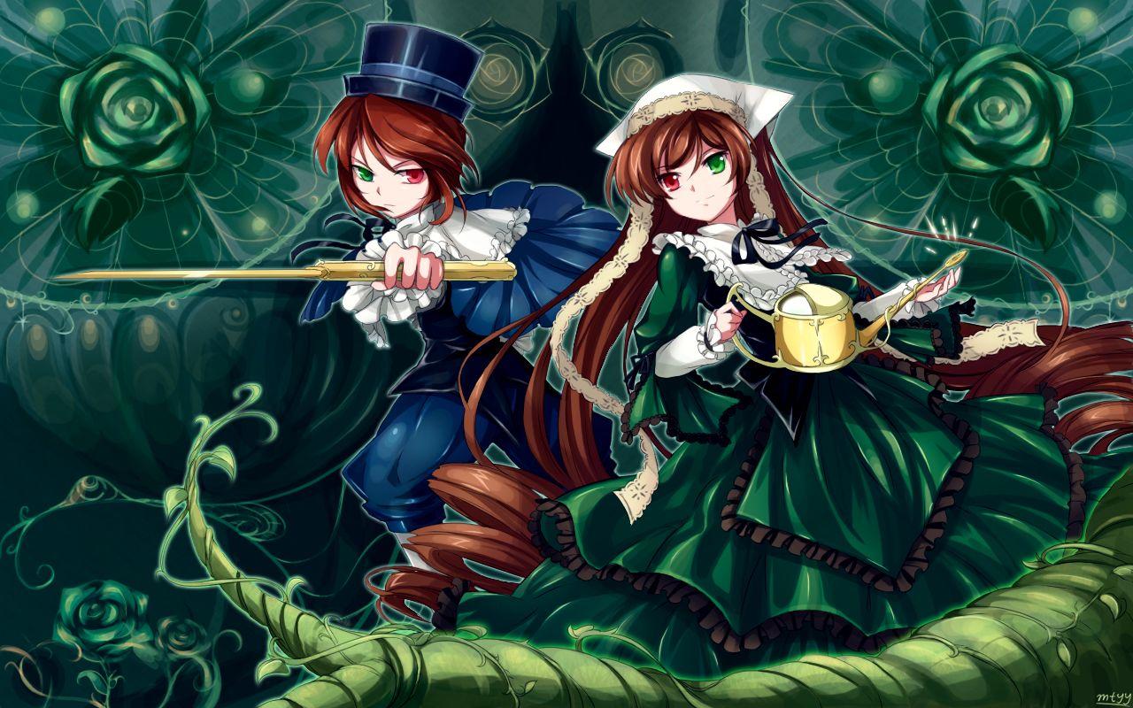 Konachan.com - 69172 bicolored_eyes rozen_maiden souseiseki suiseiseki