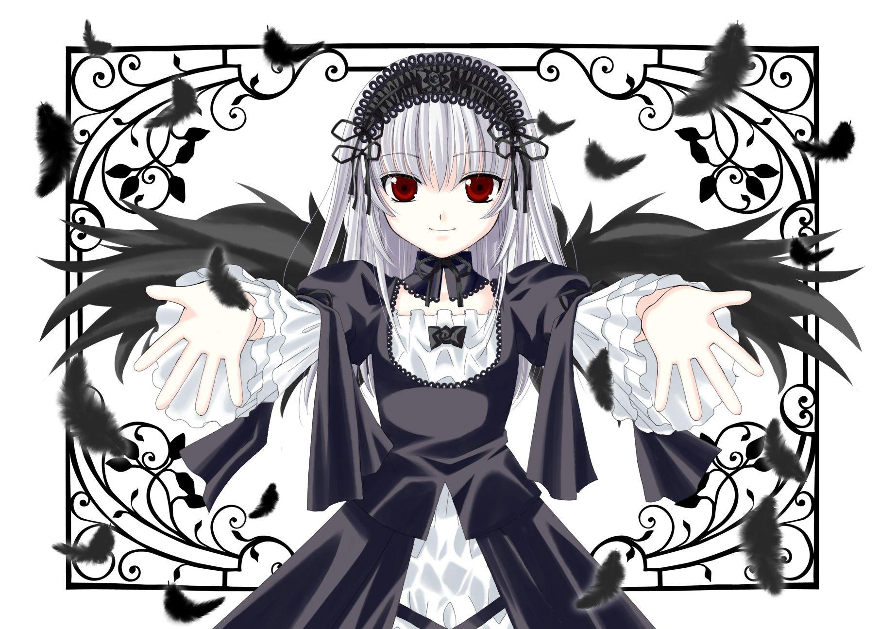 Konachan.com - 55988 feathers gothic rozen_maiden suigintou wings