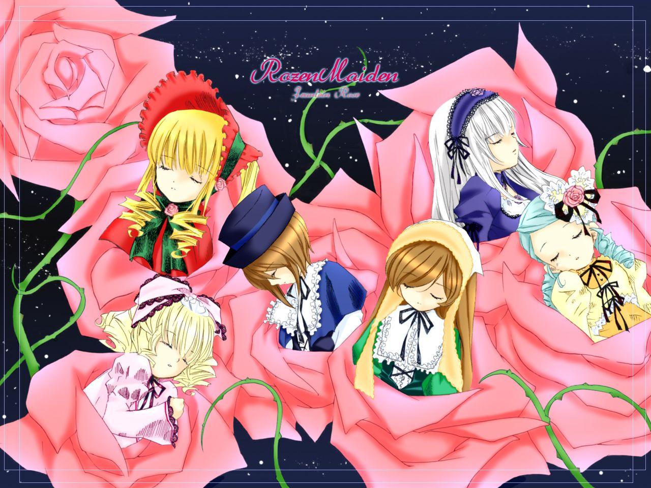 Konachan.com - 48191 hina_ichigo kanaria rozen_maiden shinku souseiseki suigintou suiseiseki