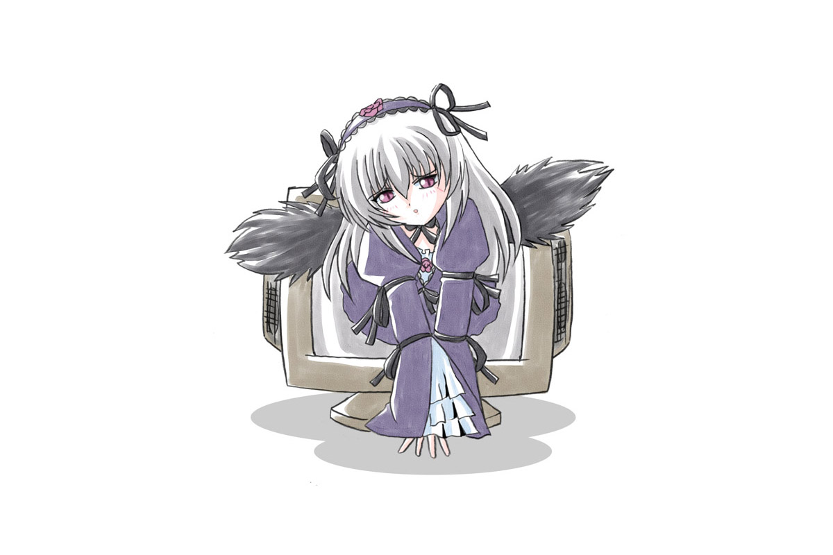 Konachan.com - 44586 rozen_maiden suigintou white