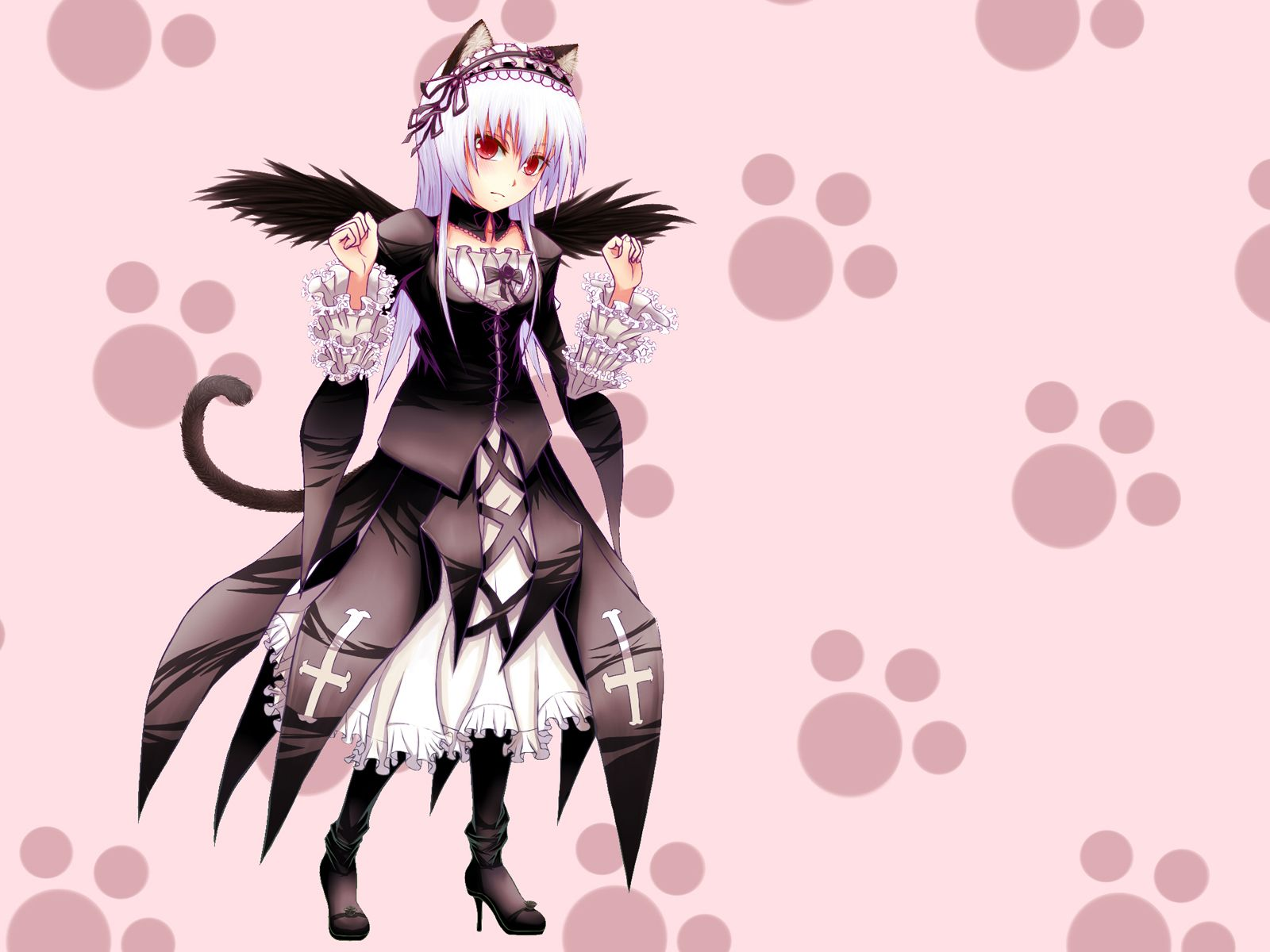 Konachan.com - 47696 catgirl rozen_maiden suigintou