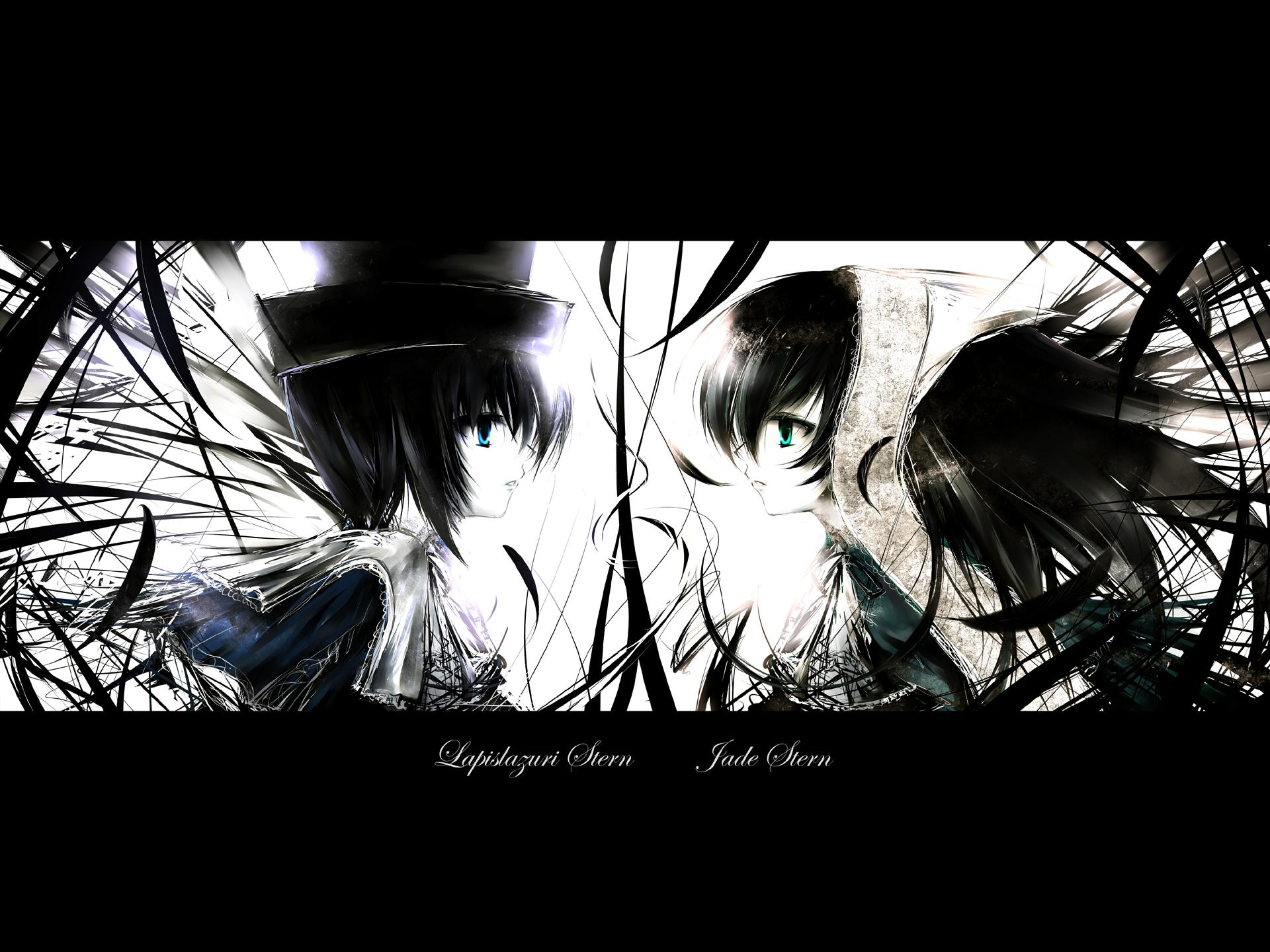 Konachan.com - 47322 bicolored_eyes rozen_maiden souseiseki <br />suiseiseki