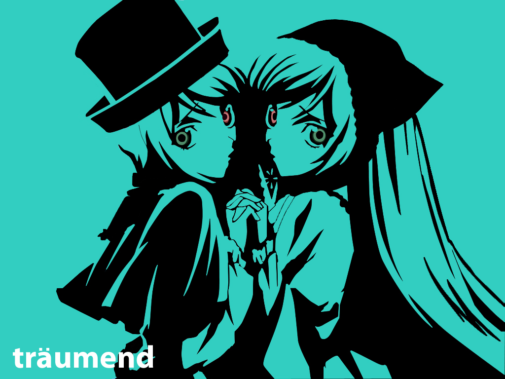 Konachan.com - 44581 2girls bicolored_eyes ipod polychromatic rozen_maiden souseiseki suiseiseki