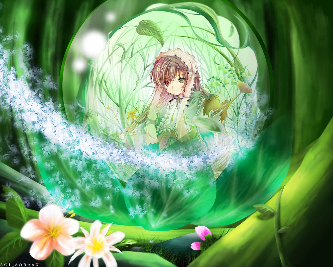 Konachan.com - 47321 bicolored_eyes green rozen_maiden suiseiseki