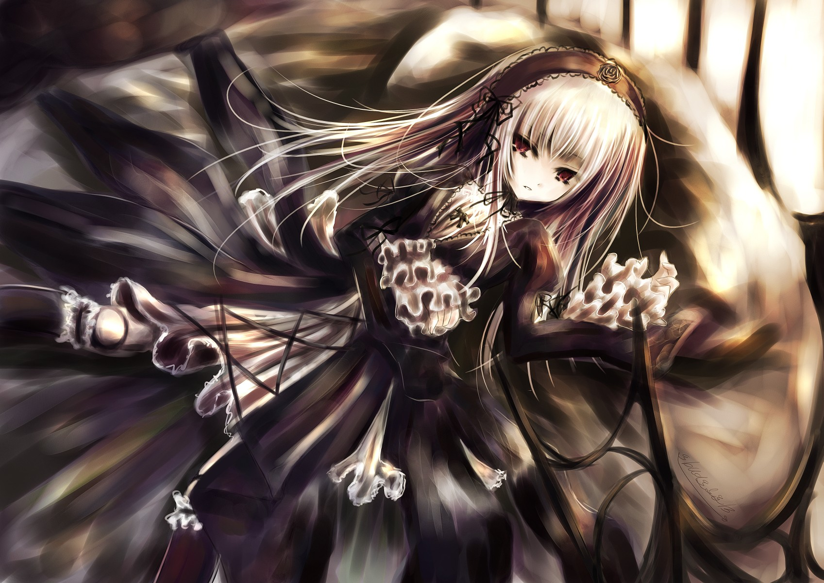 Konachan.com - 47761 gothic rozen_maiden suigintou white_hair