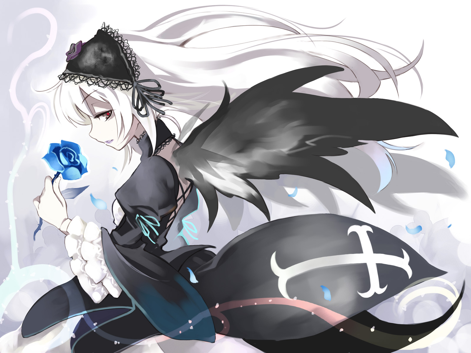 Konachan.com - 33118 long_hair rozen_maiden suigintou wings