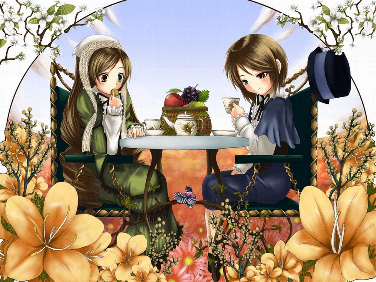 Konachan.com - 33667 bicolored_eyes rozen_maiden souseiseki suiseiseki