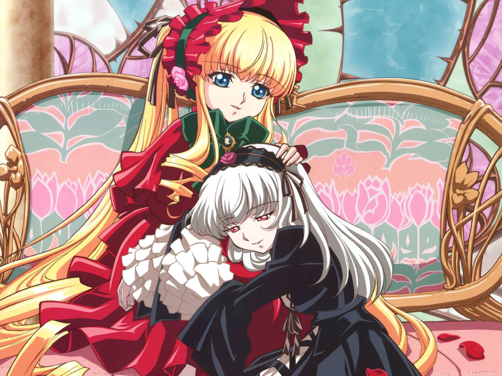 Konachan.com - 33666 long_hair rozen_maiden shinku suigintou