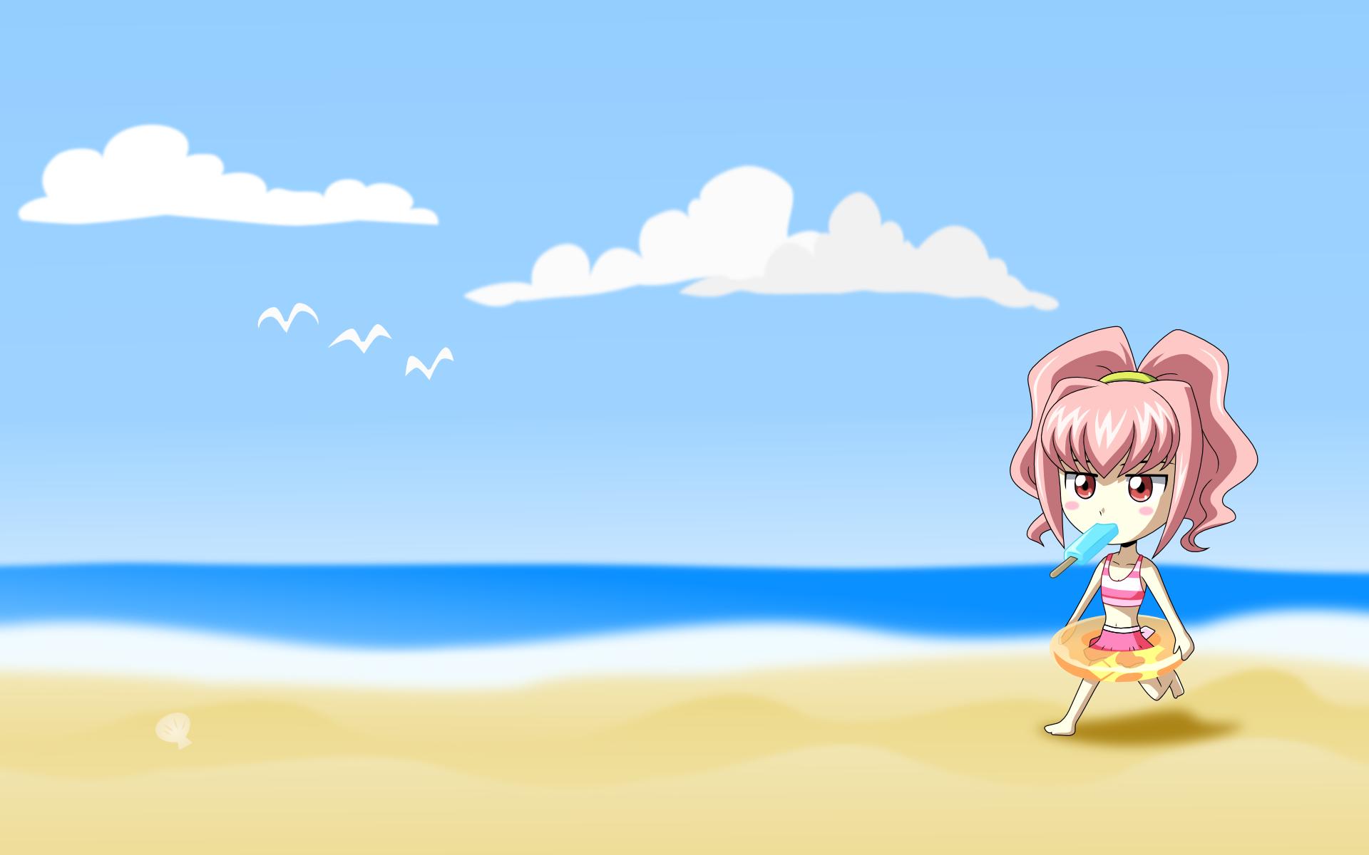 Konachan.com - 39246 anya_alstreim beach code_geass