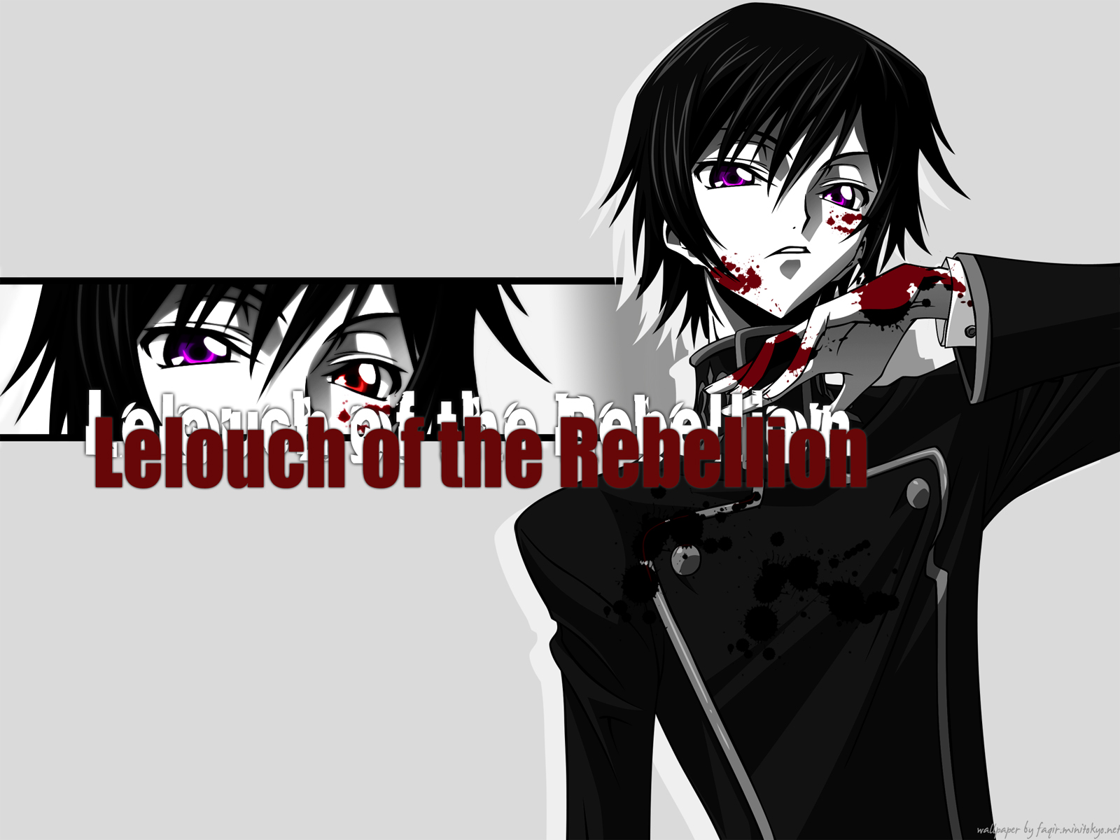 Konachan.com - 39373 blood code_geass gray lelouch_lamperouge monochrome vector
