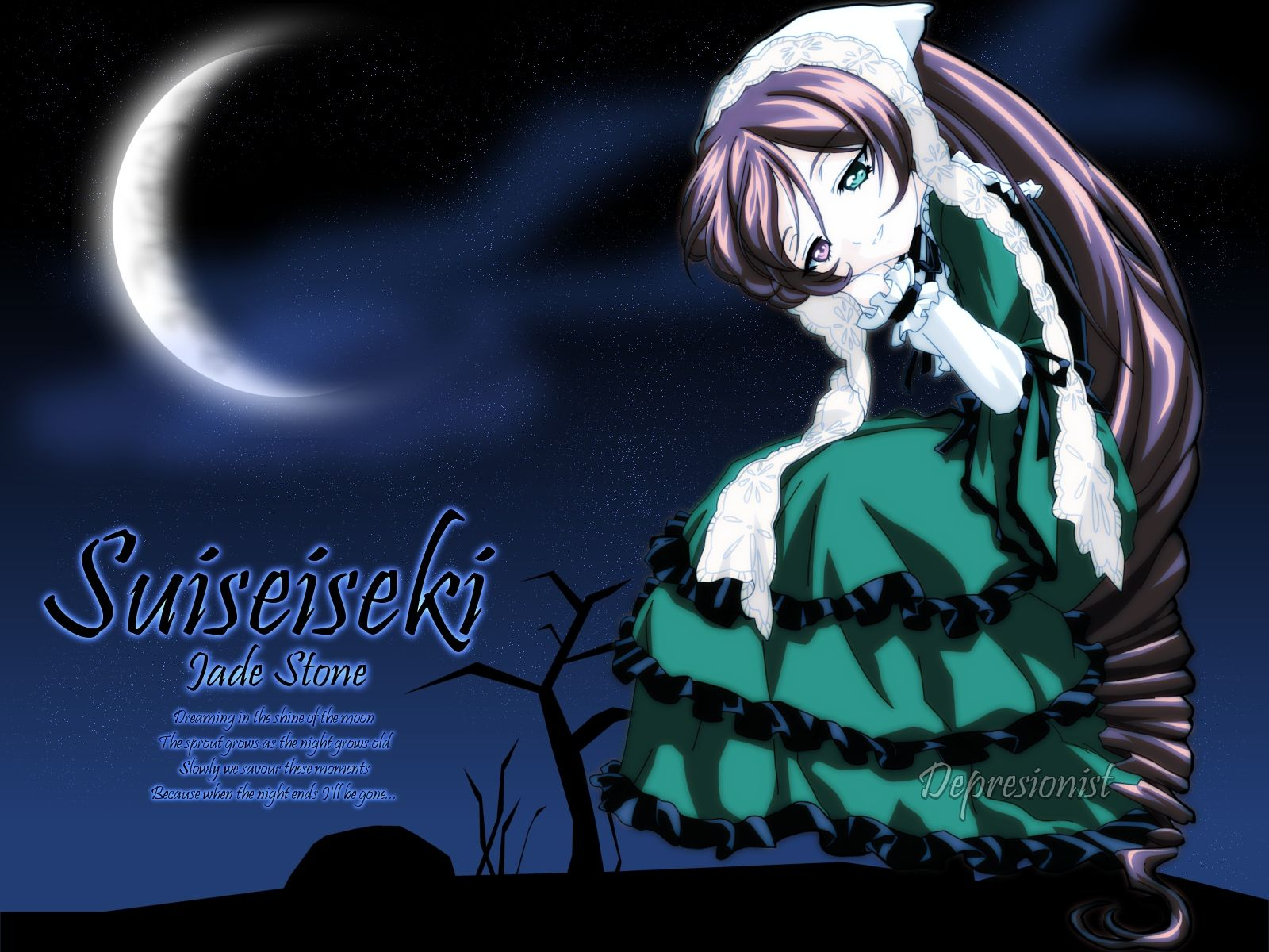 Konachan.com - 25151 bicolored_eyes moon rozen_maiden suiseiseki