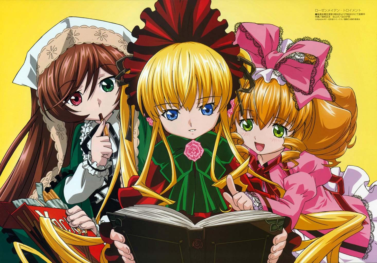 Konachan.com - 23698 hina_ichigo pocky rozen_maiden shinku suiseiseki