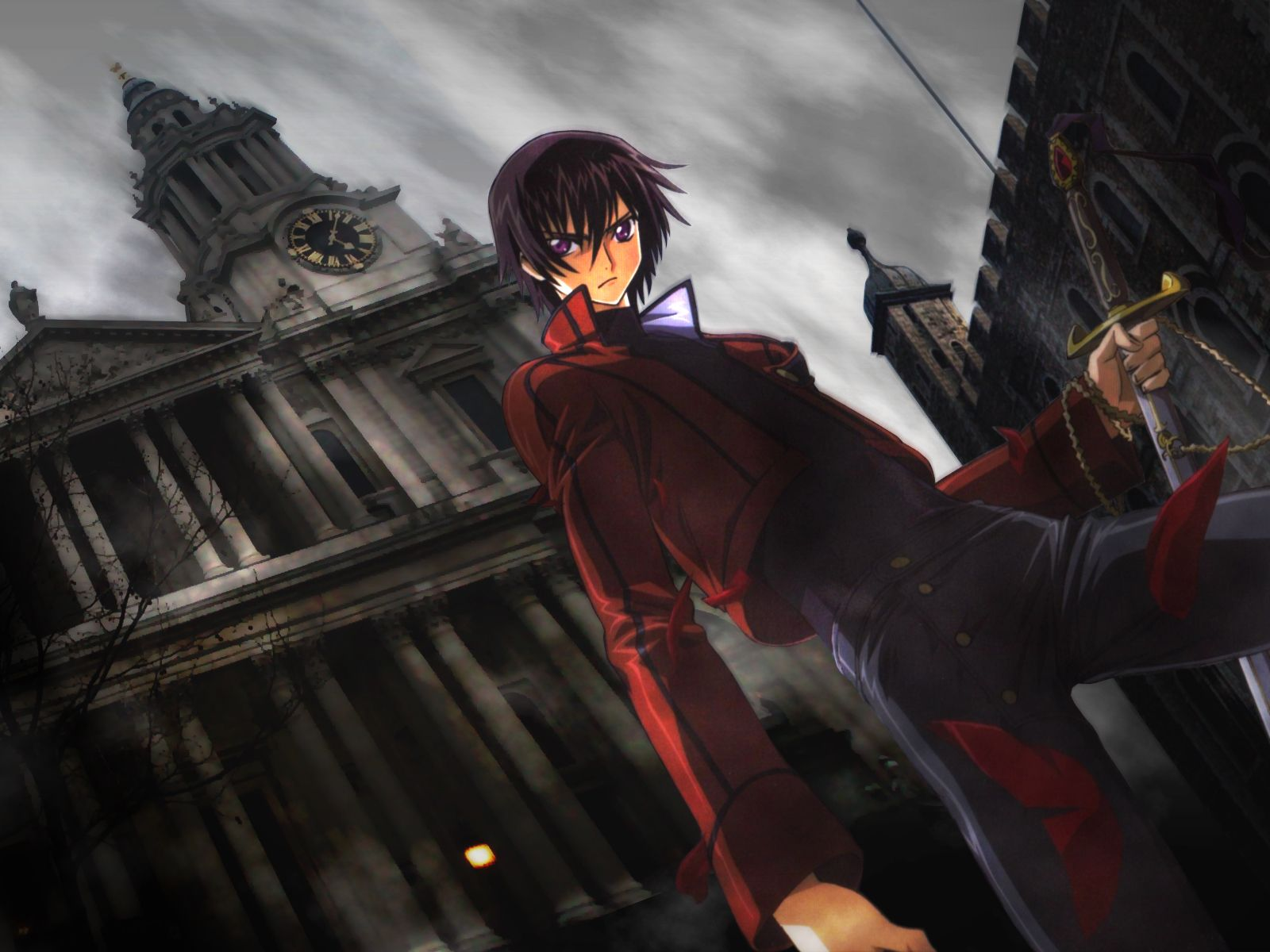 Konachan.com - 36715 code_geass lelouch_lamperouge sword weapon