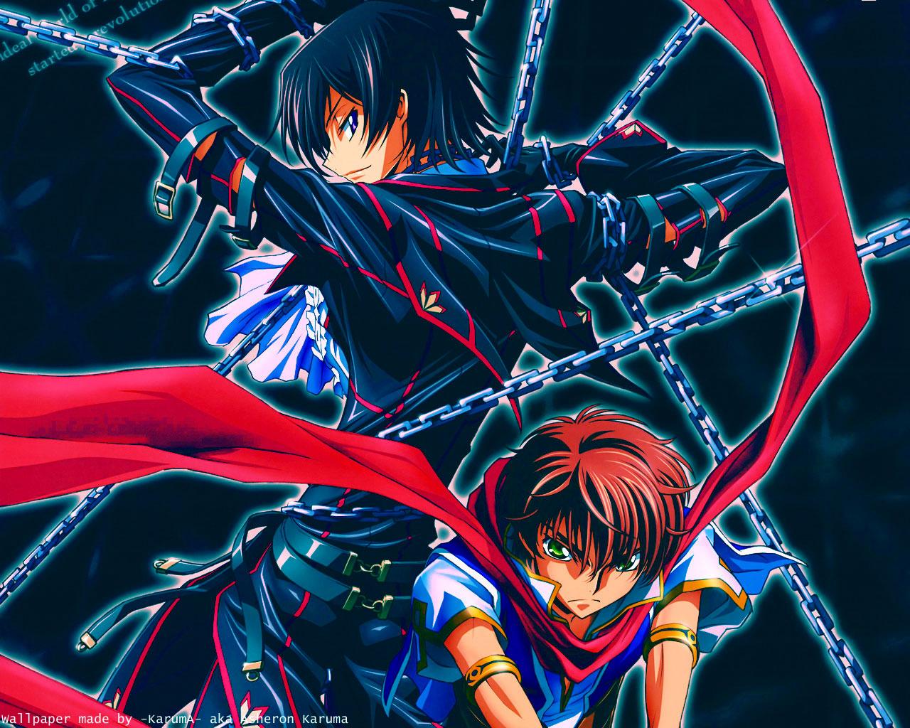 Konachan.com - 27915 blue code_geass kururugi_suzaku lelouch_lamperouge
