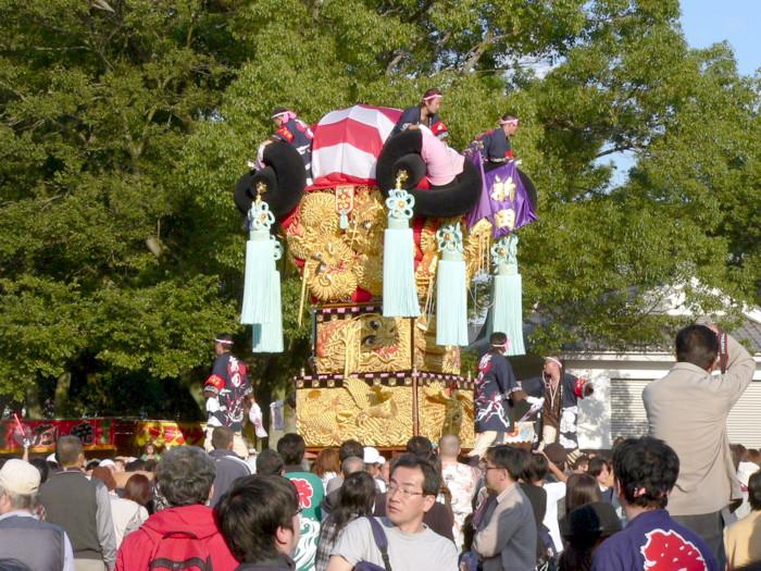 八旛神社の新田太鼓台