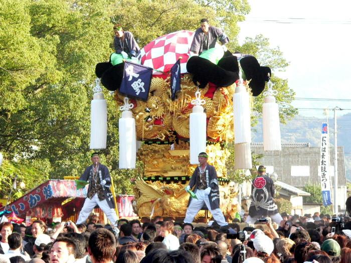 八旛神社の又野太鼓台