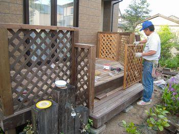 フェンスの扉