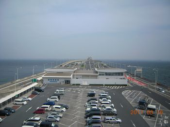 海ほたる・木更津方面を望む
