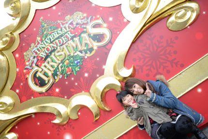 ユニバーサルスタジオのクリスマス画像