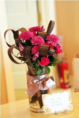 定期活け込み(花瓶花)赤系