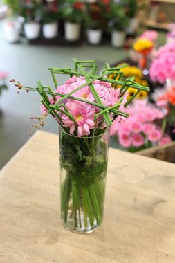 定期活け込み(花瓶花)ピンク系