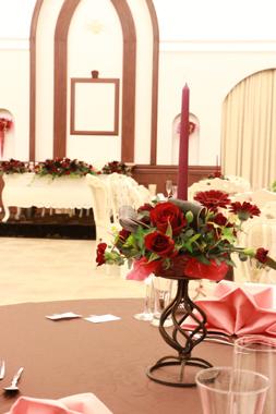 サイドテーブル(赤系)