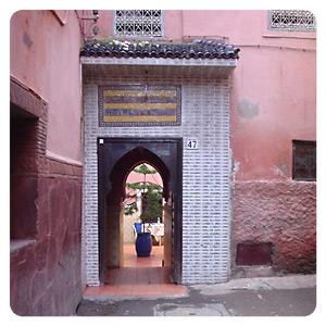 モロッコ宿入り口