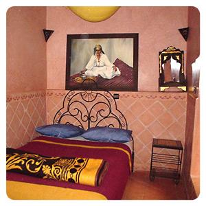モロッコ宿の部屋