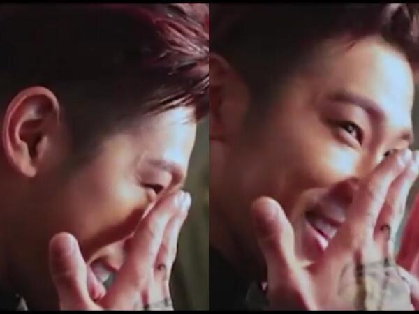 撮影中の チャンミン見て 大爆笑する ユンホヒョン