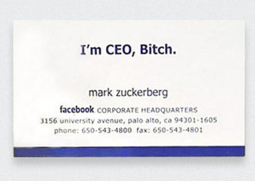 マーク・ザッカーバーグの名刺